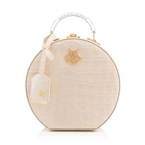 Charlotte Olympia Atkinson embossed leather bag